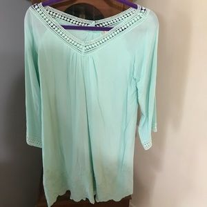 altar'd state Mint Green dress! Bell sleeves